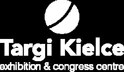 Logo Targi Kielce - białe
